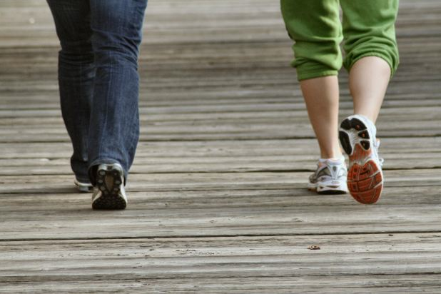 Walking is good exercise but burns less fat